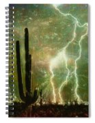 Computer Generated Image Of Lightening Spiral Notebook