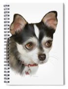 Computer Generated Portrait Of A Dog Spiral Notebook