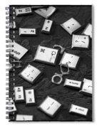 Computer Keys Spiral Notebook