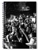 Concert Crowd Spiral Notebook