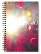 Concert Lights Spiral Notebook