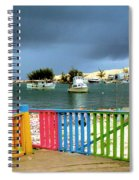 Conch Boats Arriving Spiral Notebook