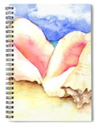 Conch Shells On Beach Spiral Notebook