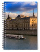 Conciergerie And The Seine River Paris Spiral Notebook