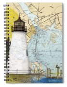 Concord Pt Lighthouse Md Nautical Chart Map Art Cathy Peek Spiral Notebook