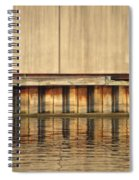 Concrete Wall And Water 1 Spiral Notebook