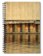 Concrete Wall And Water 2 Spiral Notebook