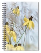 Coneflower And Bee 1  Spiral Notebook