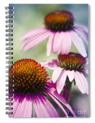Coneflower Jewel Tones - Echinacea Spiral Notebook