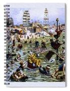 Coney Island Beach And Boardwalk Spiral Notebook