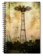 Coney Island Eiffel Tower Spiral Notebook