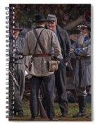 Confederate Civil War Reenactors With Rebel Confederate Flag Spiral Notebook