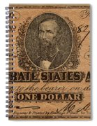 Confederate Dollar Bill Spiral Notebook