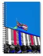 Confederate Flag Us Flag Line Of Hats Tucson Arizona Color Added Spiral Notebook