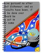 Confederate States Of America Robert E Lee Spiral Notebook