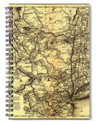 Connecticut And Western Railroad Map 1871 Spiral Notebook