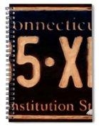 Connecticut License Plate Spiral Notebook