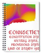 Connecticut State Map Collection 2 Spiral Notebook