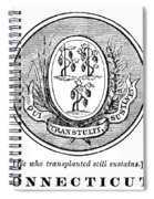 Connecticut State Seal Spiral Notebook