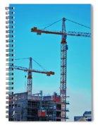 construction cranes HDR Spiral Notebook