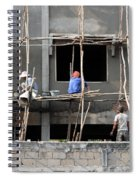 Construction Crew In Laos Spiral Notebook