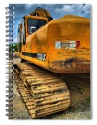 Construction Excavator In Hdr 1 Spiral Notebook