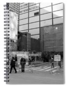 Construction In Black And White Spiral Notebook