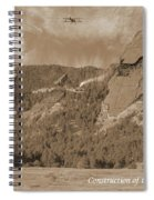 Construction Of The Flatirons - 1931 - Sepia Spiral Notebook
