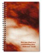 Consuming Fire Spiral Notebook
