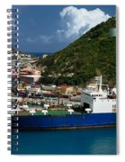 Container Ship St Maarten Spiral Notebook