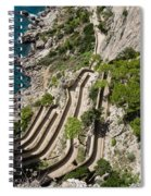 Contemplating Mediterranean Vacations - Via Krupp Capri Island Italy Spiral Notebook
