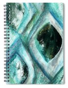 Contemporary Abstract- Teal Drops Spiral Notebook
