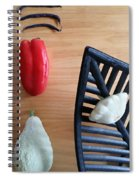 Contemporary Vegetables Spiral Notebook