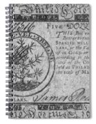 Continental Currency, 1775 Spiral Notebook