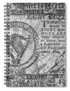 Continental Currency, 1777 Spiral Notebook