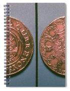 Continental Dollar, 1776 Spiral Notebook
