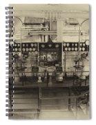 Control Board Engine Room Queen Mary Ocean Liner Long Beach Ca Heirloom Spiral Notebook