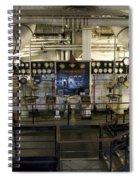 Control Board Engine Room Queen Mary Ocean Liner Long Beach Ca Spiral Notebook