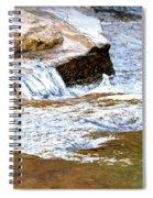 Converging Stream Water Spiral Notebook