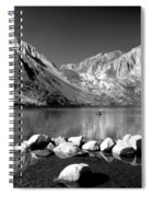 Convict Lake Pano In Black And White Spiral Notebook