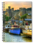 Conwy Castle And Harbour Spiral Notebook