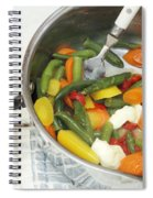 Cooked Mixed Vegetables Spiral Notebook