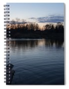 Cool Blue Ripples - Lake Shore Eventide Spiral Notebook