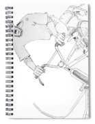 Cool Bmx Drawing Spiral Notebook