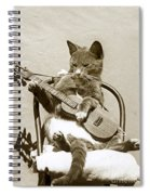 Cool Cat Playing A Guitar Circa 1900 Historical Photo By Photo  Henry King Nourse Spiral Notebook