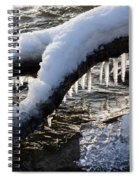 Cool Icicles Reflecting In The Waves  Spiral Notebook