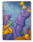Cool Jazz Trio Spiral Notebook