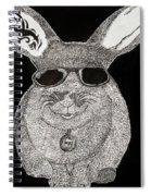 Cool Rabbit Spiral Notebook