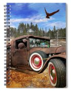 Cool Rusty Classic Ride Spiral Notebook