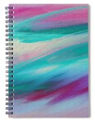 Cool Waves - Abstract - Digital Painting Spiral Notebook